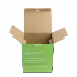 Cardboard Box Die Line with Plastic Handle