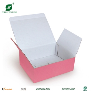Pink cardboard box for skirt
